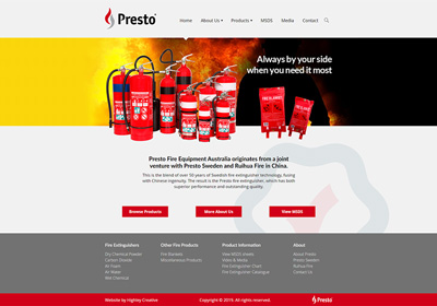Website design and build for a fire safety company