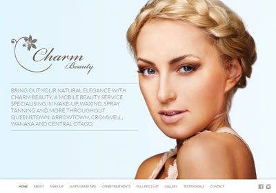 Fully responsive website for a beauty therapy company