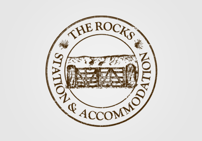Logo for The Rocks accommodation in Otago, NZ